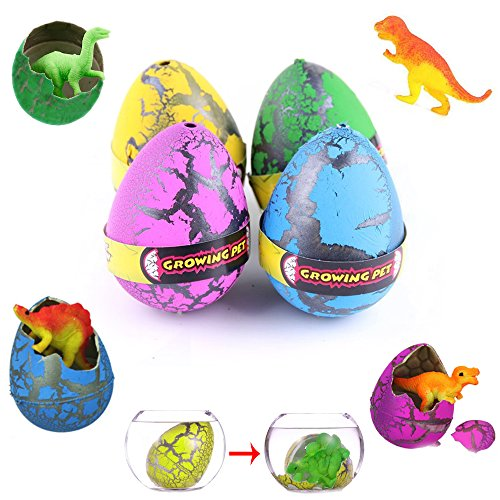12-Count Dinosaur Grow Eggs 2.75 Inches - Grows Like Magic! - Assorted Colors and Styles - Perfect For Easter or Birthday Parties - Add Water and Watch Them Hatch - Take The Hassle Out Of Egg Hunts ()