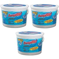 DampRid FG50T Hi-Capacity Moisture Absorber 64 OZ Tub (Pack of 3) Made in USA