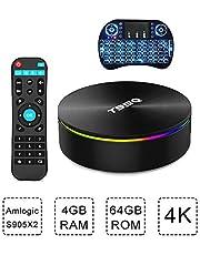 Android KODI Smart TV Box T95Q 4K HD WiFi Quad-Core 4G+64G 3D Media Player i8 Wireless Remote Keyboard