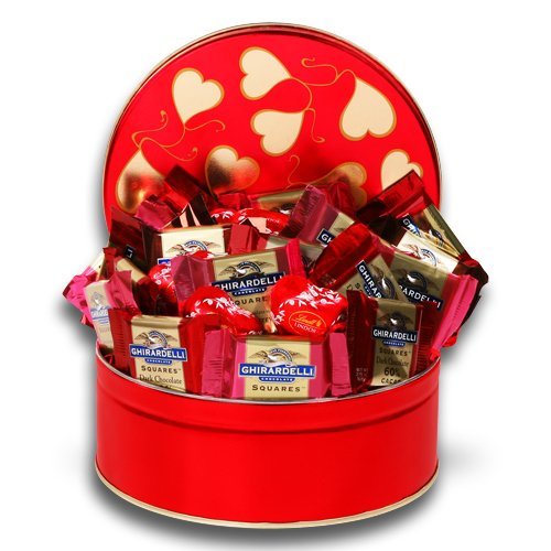 Valentine Ghirardelli Gift Tin