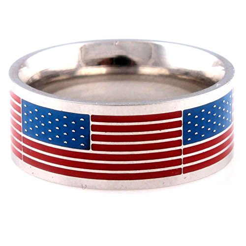 American Flag Ring - American Flag Team USA Stainless Steel Ring size 9
