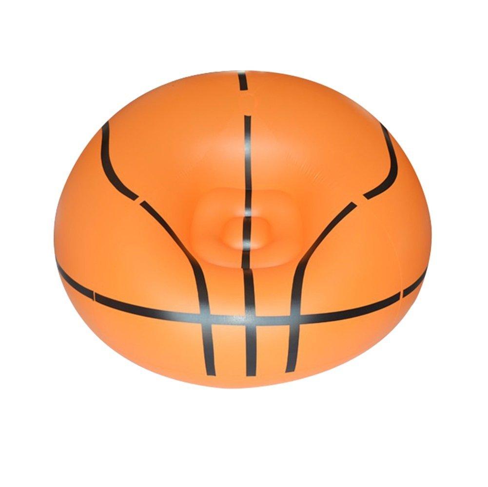 YJchairs Faules Sofa -  Beanless Soccer Ball Stuhl Aufblasbare Luft Tragbar (Farbe : Basketball, größe : No Pump)