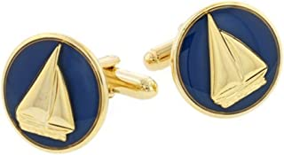 product image for JJ Weston Moonlight Sail Cufflinks. Made in the USA.