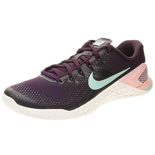 Nike Metcon 4, Zapatillas de Deporte para Mujer, (Burgundy Ash/Aurora Green