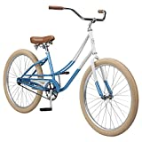 Cheap Pure City Women's 1-Speed Cruiser Bicycle, 26″ Wheels/15.5″ Frame, Kusshi Blue/Gold/White