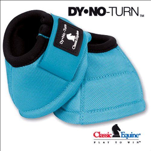 Boot Nylon Classic Equine (Equibrand Classic Dyno Turn Bell Boots - Turquoise - Small)