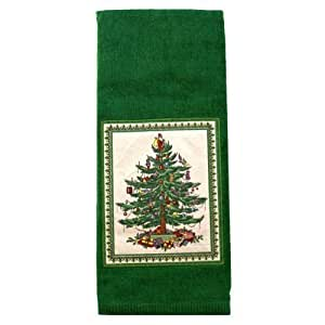 Spode Christmas Tree Green Kitchen Hand Towel By Spode Home Kitchen