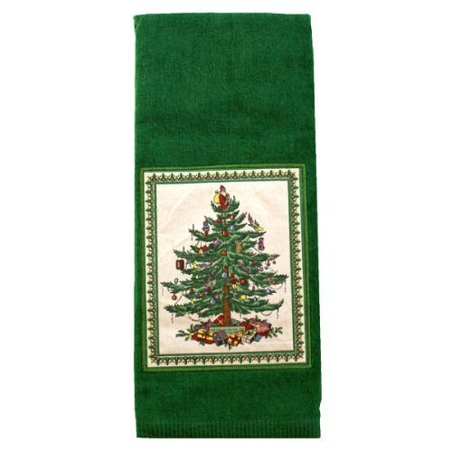 Spode Christmas Tree Green Kitchen Hand Towel