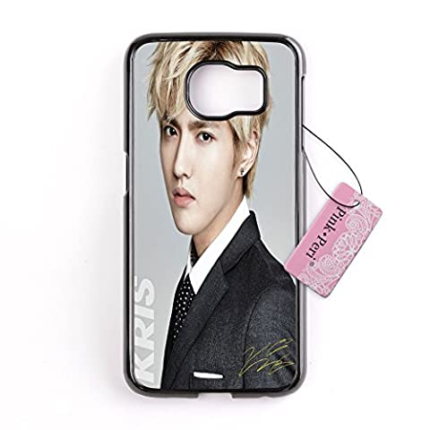 Galaxy S6 Edge case, Pink Peri™ K-POP EXO KRIS Hard Phone Case For Samsung Galaxy S6 Edge cases (Samsung Galaxy S4 Cases Kpop)