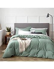 Bedsure Washed Cotton Like Duvet Cover Sets