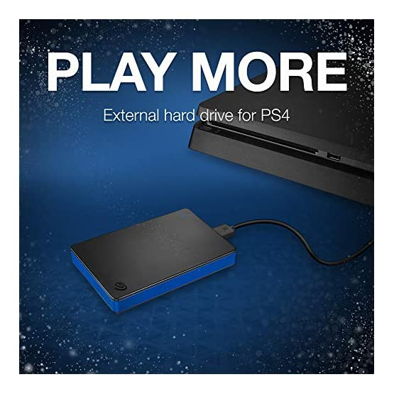 Seagate Game Drive 4TB External Hard Drive Portable HDD – Compatible with PS4 (STGD4000400) 51v8MTPOj6L. SS555