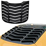Opall Window Louvers Matte Black ABS Rear Window Scoop Cover in GT Lambo Style Fits for 2015 2016 2017 Ford Mustang …