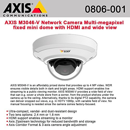 - AXIS M3046-V Network Camera Multi-megapixel fixed mini dome HDMI and wide view