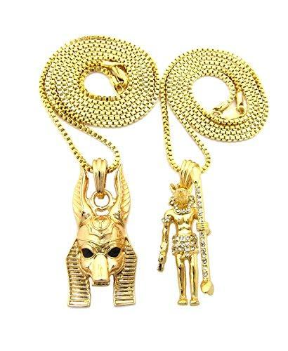 Egyptian God Double Anubis Pendant 24