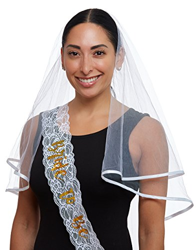 Discount Veils Wedding (Bachelorette Party Bridal Shower Wedding White Cascade Veil with Comb | bachelorette party | bridal shower | engagement party | wedding shower | hen party | costume party | by CC Party Co.)