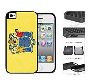New Jersey State Flag 2-Piece Dual Layer High Impact Rubber Silicone Cell Phone Case Apple iPhone 4 4s