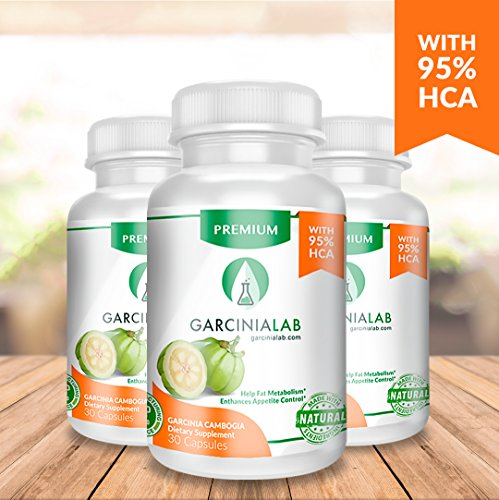 3 Pack 95% HCA Garcinia Cambogia 100% Pure Extract 1540 MG USA Made