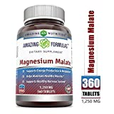 Amazing Formulas Magnesium Malate – Each Nutritional Tablet Contain Magnesium with Malic Acid