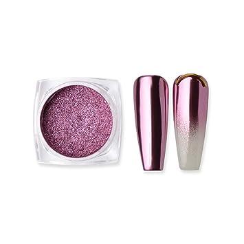 MEILINDS 1g Oro Rosa Cromo Polvo Puro Magia Espejo Efecto Polvo de Uñas Pigmentos de Manicura Arte de Maquillaje DIY Chrom
