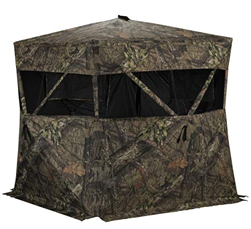 Rhino Blinds R150-MOC 3 Person Hunting Ground Blind, Mossy Oak Breakup Country