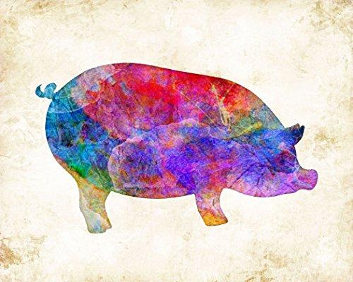Print Pig - Pig Watercolor Farm Art Print, 11