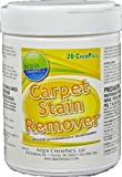 Aqua ChemPacs AQ618 Carpet and Fabric Stain Remover, 1.6-Ounce Packet (20 Count)