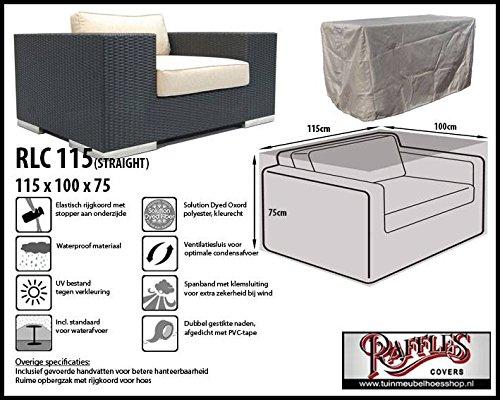 rlc115str Aight Custodia per poltrona lounge, Lounge Chair Order Lounge Sedia, si sulla sedia di Max. 110X 95cm. Custodia per poltrona lounge, copertura per Lounge Sedia Raffles Covers