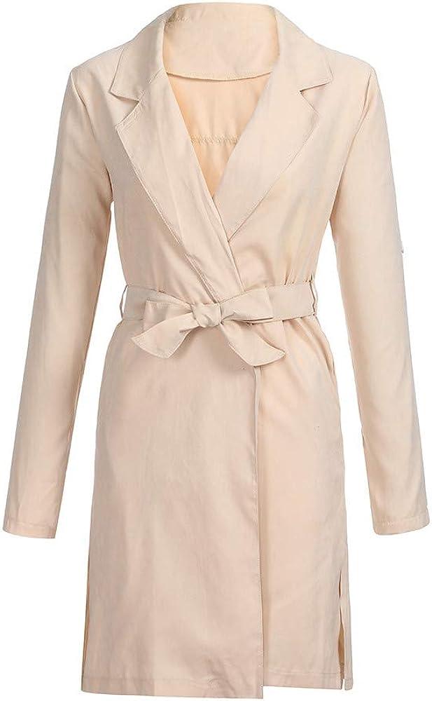 Womens Jacket Casual Long Zipper Lightweight Jackets Coat Outwear Windbreaker Jinjiums