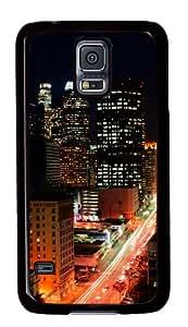 Samsung Galaxy S5 Case,Samsung Galaxy S5 Cases - Los Angeles Lights Custom Polycarbonate Hard Case For Samsung Galaxy S5 - Black