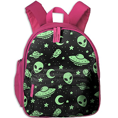 Preschool Children's Green Aliens And Spaceships UFO Pattern School (Space Alien Costume Pattern)