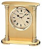 Brand New Seiko Clock - Executive Solid Brass Column Desk Clock QHE102GL