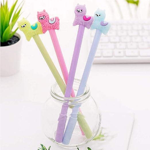 Set of 5 JeVenis Llama Pens Llama Pen Set Llama Ballpoint Pens Llama Pencil Pouch Bags for Llama Party Office School Gift
