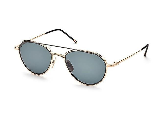 87f25705bd41 Sunglasses THOM BROWNE TB 109 A-T-GLD-BLK White Gold-Black Iron w ...