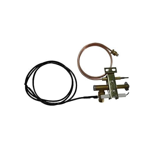 Tierra Star Gas freidora Universal quemador piloto con 900 mm piezoeléctrico alambre y termopar M9 X