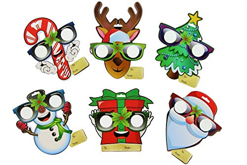 EyePop Ornaments by Holiday Specs -6pk Look through lenses and see Candy Canes, Snowmen, Presents, Santa, Reindeer, or Trees Appear before your Eyes! ()