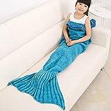 Best Gifts For Seat Girls - Mermaid Tail Blanket, Warmhoming Crochet Knitting Mermaid Blanket Review