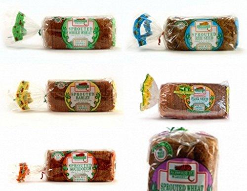 Alvarado Rye Bread - Alvarado St. Bakery Sprouted Breads Variety Pack (Pack of 6)