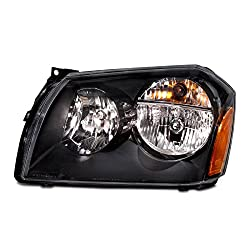Headlights Depot Replacement For Dodge Magnum Black Headlight Oe Style Replacement Headlamp Driver Side New