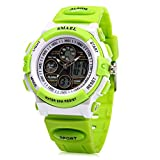 ELEOPTION Electronic Quartz Digital Watches for boy Water Resistant Sports Watch boys Girls Watches (Green)