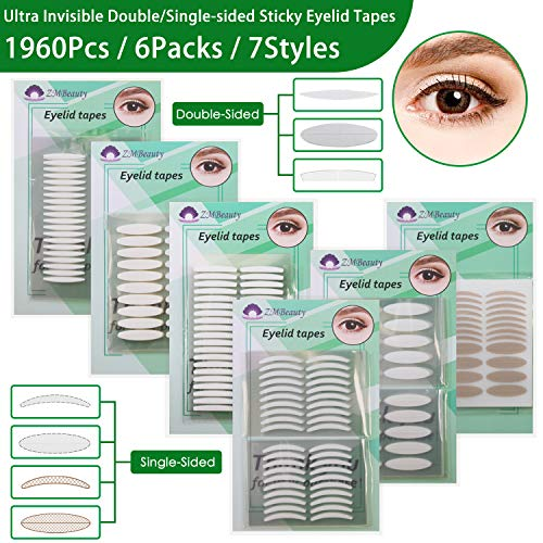 6 Packs Natural Invisible Single/Double Side Eyelid Tapes Stickers, Medical-use Fiber Eyelid Strips, Instant lift Eye Lid Without Surgery, Perfect for Hooded, Droopy, Uneven, Mono-eyelids (Best Invisible Eyelid Tape)