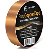 """Conductive Copper Foil Craft Tape – 1"""" x 50ft - Create Cool Works of Art, Paper Circuits and Christmas Cards – EMI and RFI Shield Guitars and Electronics – Slug Proof your Pots and Planters"""