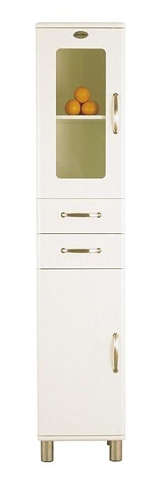 Tenzo Badezimmer - Hochschrank Malibu 5168 in weiß: Amazon.de ...