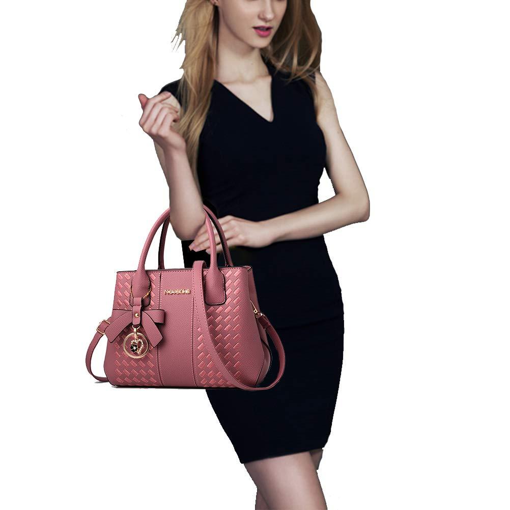 Handbags for Women Fashion Ladies Purses PU Leather Satchel Shoulder Tote Bags by Jeniulet (Image #2)