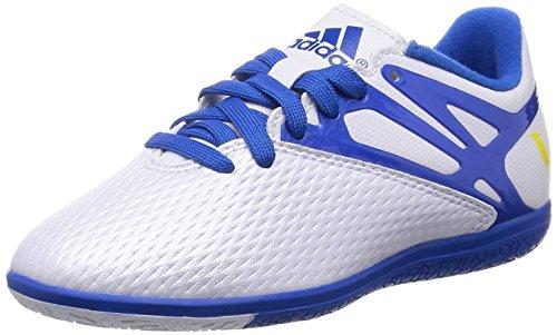 Adidas Messi 15.3 TF J - Botas para Niño, Color Blanco/Azul/Negro, Talla 38