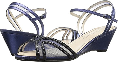 Caparros Women's Hilton Navy Metallic Sandal