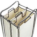 Simple Houseware Laundry Sorter Rolling Cart