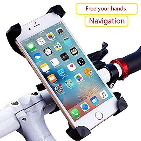Phone Bike Mount, Bicycle Holder and Motorcycle Mountain Phone Bike Mount for iPhone 7 6S 6 Plus 5S 5 Samsung Galaxy S7 S6 S5 S4 Note 3 4 5 Nexus 5 6p HTC LG Nokia (Wing Phone Covers)