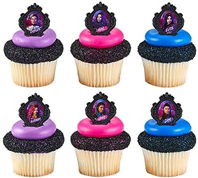 Amazon.com: 24 adornos para tartas con diseño de 3 ...