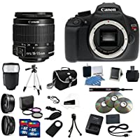 Canon EOS Rebel T5 Digital SLR Camera Kit with EF-S 18-55mm IS II Lens Complete Ultimate Professional Camera Accessory Bundle Explained Review Image