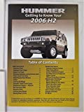 2006 Hummer H2 Owners Manual Guide Book
